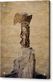 The Winged Victory Of Samothrace Acrylic Print by Maria Angelica Maira