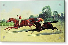 The Winning Post In Sight Acrylic Print by Henry Stull