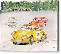 Acrylic Print featuring the painting The Winter Rally by Eva Ason