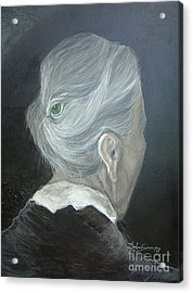 Acrylic Print featuring the painting The Wisdom Eye  by Delona Seserman