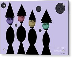 The Witch Club Acrylic Print by Ann Calvo