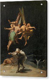 The Witches' Flight Acrylic Print by Francisco Goya