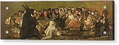 The Witches Sabbath Or The Great He-goat, One Of The Black Paintings, C.1821-23 Oil On Canvas Acrylic Print