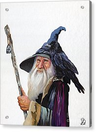 The Wizard And The Raven Acrylic Print