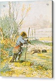 The Wolf As A Shepherd Acrylic Print