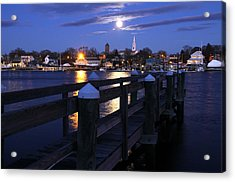 The Wolf Moon Acrylic Print by Butch Lombardi