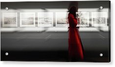 The Woman With The Red Coat Acrylic Print