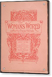 The Woman's World Front Cover Acrylic Print by British Library