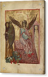 The Women At The Tomb Unknown Byzantine Empire Early 13th Acrylic Print by Litz Collection