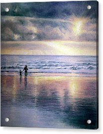 Acrylic Print featuring the painting The Wonder Of Light by Rosemary Colyer