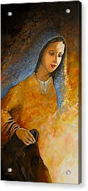 The Wonderment Of Mary - Virgin Mary Madonna Mother Of Jesus Christ Child Acrylic Print by Carla Holiday