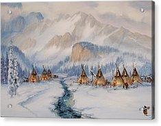 The Wood Gatherer Acrylic Print by Richard Hinger