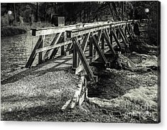 The Wooden Bridge Acrylic Print by Hannes Cmarits
