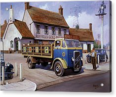 The Woodman Pub. Acrylic Print by Mike  Jeffries