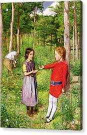 The Woodmans Daughter Acrylic Print by Sir John Everett Millais