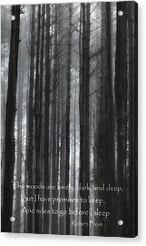 The Woods Black And White Acrylic Print