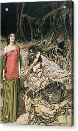 The Wooing Of Grimhilde The Mother Of Hagen From 'siegfried And The Twilight Of The Gods Acrylic Print