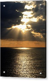 Key West Sunset The Word Acrylic Print