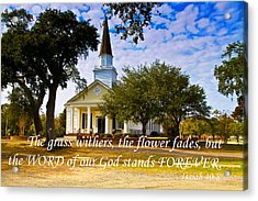 The Word Of God Stands Acrylic Print