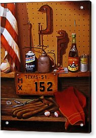 The Workshop Acrylic Print by Gene Gregory