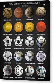 The World Cup Balls Acrylic Print