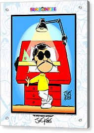 The World Famous Cartoonist Acrylic Print by Joe King