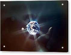 The World In The Palm Of Your Hand Acrylic Print by EXparte SE