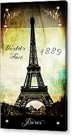 The Worlds Fair Of 1889 Acrylic Print by Steven  Taylor