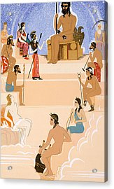 The Worship Of Zeus Acrylic Print by Francois-Louis Schmied