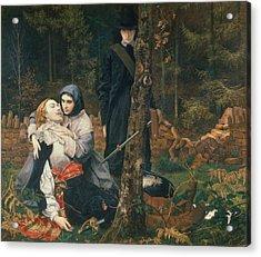 The Wounded Cavalier, 1855 Oil On Canvas Acrylic Print