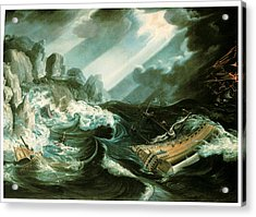 The Wreck Of The Amsterdam Acrylic Print by Flemish School