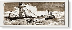 The Wreck Of The Indian Chief The Ramsgate Lifeboat Acrylic Print