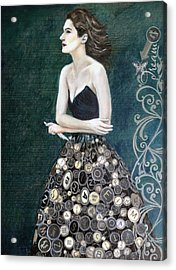The Writer's Muse Acrylic Print by Enzie Shahmiri