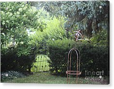 The Wrought Iron Gate Acrylic Print by Yvonne Wright
