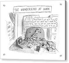 The Wunderkind At Work Acrylic Print