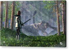 The Wyvern Acrylic Print by Daniel Eskridge