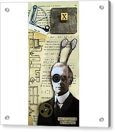 The X Factor - Inventor Acrylic Print by Linda Apple