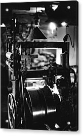 Acrylic Print featuring the photograph The Yardstick Press by Dennis Bucklin