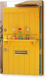 The Yellow Door Acrylic Print by Art Block Collections