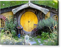 Yellow Hobbit Door Acrylic Print