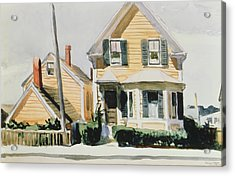 The Yellow House Acrylic Print by Edward Hopper