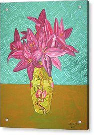 The Yellow Vase Acrylic Print by John Keaton