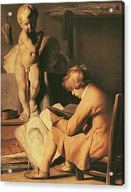 The Young Artist Acrylic Print by Jan the Elder Lievens