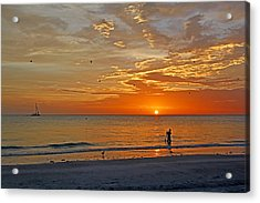 Acrylic Print featuring the photograph The Young Fisherman by HH Photography of Florida