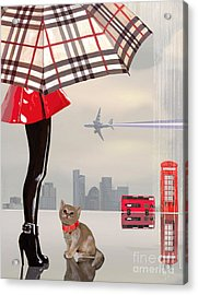 The Young Londoner Acrylic Print by Victoria Fomina
