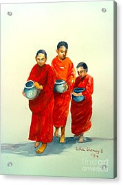The Young Monks Acrylic Print