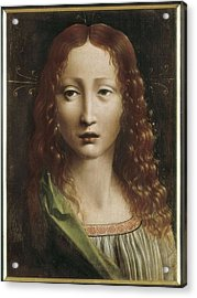 The Young Saviour. 15th C. - 16th C Acrylic Print by Everett