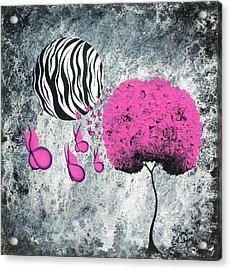 The Zebra Effect 1 Acrylic Print by Oddball Art Co by Lizzy Love