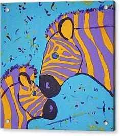 The Zebra Nuzzle Acrylic Print