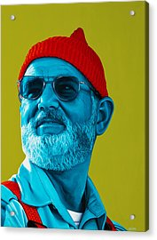 The Zissou- Background Edit Acrylic Print by Ellen Patton